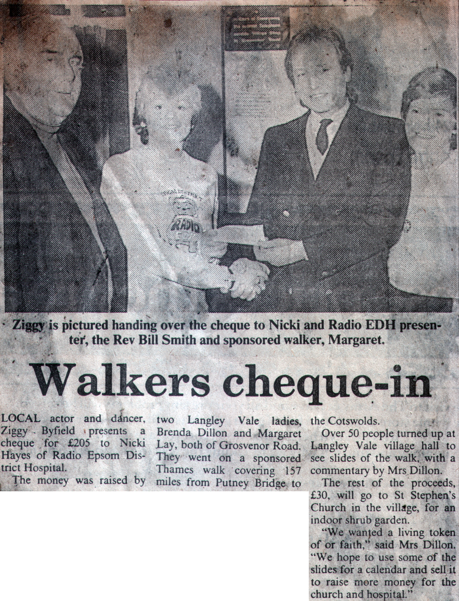 Walkers Chequein Press Cuttings Epsom Radio How To Write A Check Uk Natwest  Solution For How