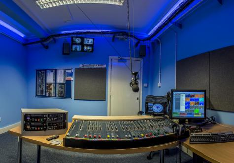 Blue Studio in Rowan House from behind the desk