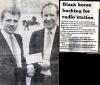 Black horse backing for radio station